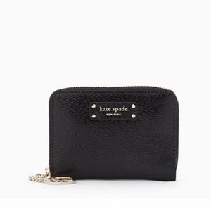 New Kate spade New York small black wallet